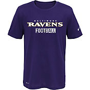 Nike Youth Baltimore Ravens Sideline 2016 All Football Legend Purple Performance T-Shirt