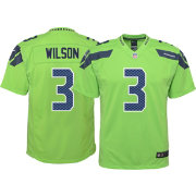 Nike Youth Color Rush Game Jersey Seattle Seahawks Russell Wilson #3