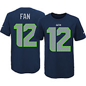 Nike Youth Seattle Seahawks Fan #12 Navy T-Shirt