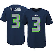 Nike Youth Seattle Seahawks Russell Wilson #3 Navy T-Shirt
