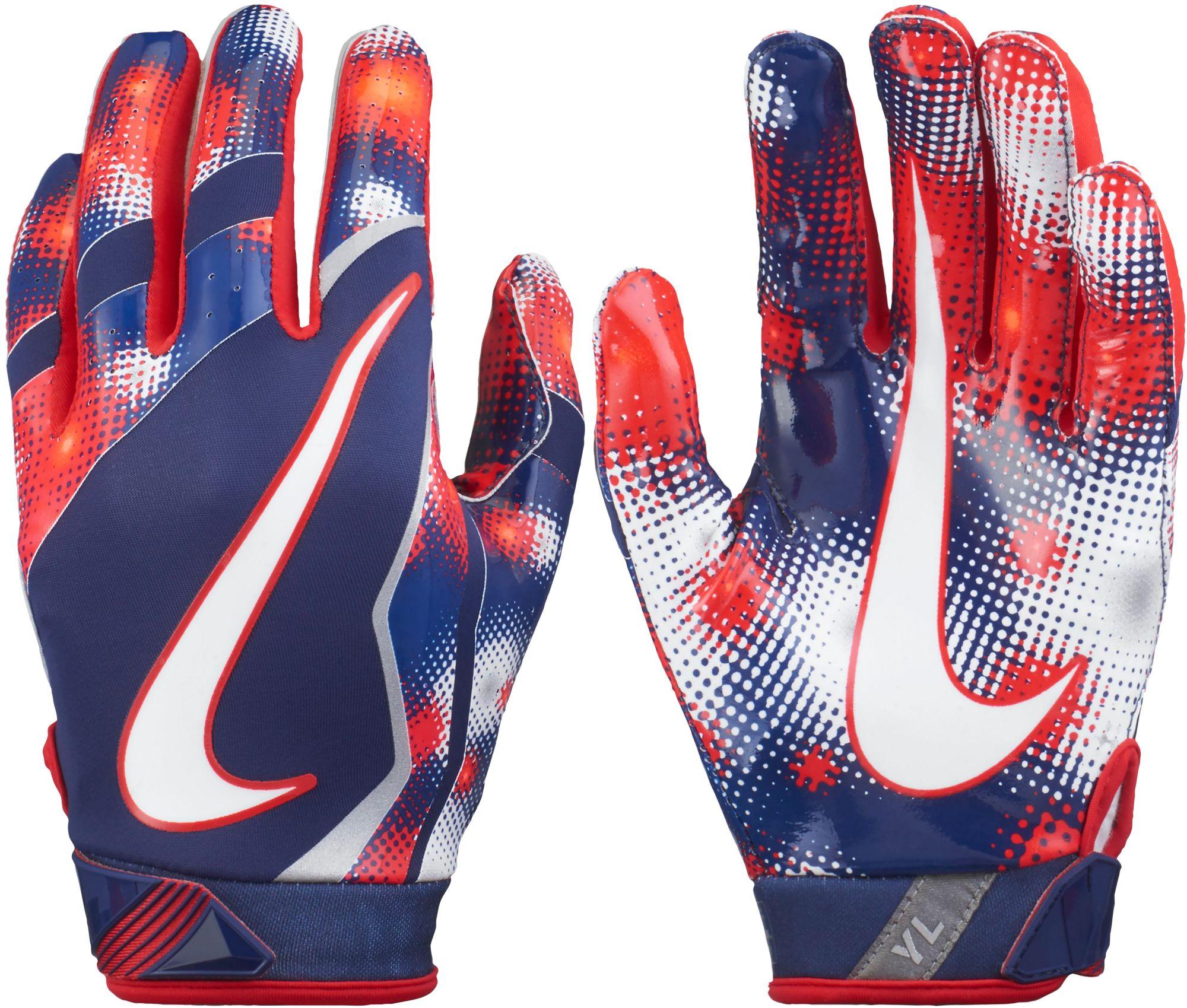 nike youth football gloves. nike youth vapor jet 4.0 2017 firecracker  receiver gloves football p