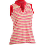 Nancy Lopez Women's Dizzy Sleeveless Golf Polo – Plus-Size