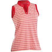 Nancy Lopez Women's Dizzy Sleeveless Golf Polo – Plus-Size