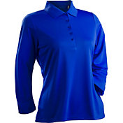 Nancy Lopez Women's Grace Three-Quarter Sleeve Golf Polo – Plus-Size
