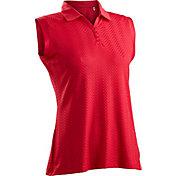 Nancy Lopez Women's Grace Sleeveless Golf Polo – Plus-Size