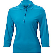Nancy Lopez Women's Luster Three-Quarter Sleeve Golf Polo