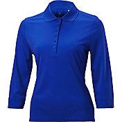 Nancy Lopez Women's Luster Three-Quarter Sleeve Golf Polo