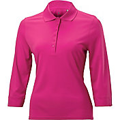 Nancy Lopez Women's Luster Three-Quarter Sleeve Golf Polo – Plus-Size