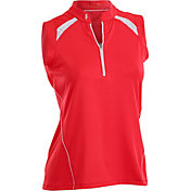 Nancy Lopez Women's Sporty Sleeveless Golf Polo – Plus-Size