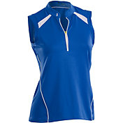 Nancy Lopez Women's Sporty Sleeveless Golf Polo – Plus-Size