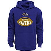 NFL Team Apparel Boys' Baltimore Ravens Embossed Purple Hoodie