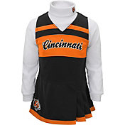 NFL Team Apparel Girls' Cincinnati Bengals Cheer Jumper Dress