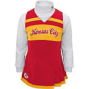 NFL Team Apparel Girls' Kansas City Chiefs Cheer Jumper Dress