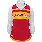 NFL Team Apparel Girls' Kansas City Chiefs Cheer Jumper Dress