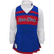 NFL Team Apparel Girls' New York Giants Cheer Jumper Dress