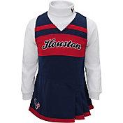NFL Team Apparel Girls' Houston Texans Cheer Jumper Dress