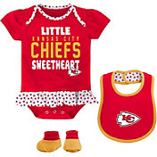 NFL Team Apparel Infant Kansas City Chiefs Bib & Booty Set