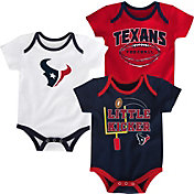 NFL Team Apparel Infant Houston Texans 3-Pack Creeper Set