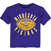 NFL Team Apparel Toddler Minnesota Vikings Place Kicker T-Shirt