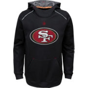 NFL Team Apparel Youth San Francisco 49ers Pinnacle Black Performance Hoodie
