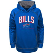 NFL Team Apparel Youth Buffalo Bills Arch Blue Pullover Hoodie