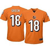 NFL Team Apparel Youth Cincinnati Bengals A.J. Green #18 Orange T-Shirt
