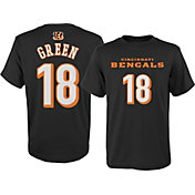 NFL Team Apparel Youth Cincinnati Bengals A.J. Green #18 Cotton T-Shirt