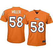 NFL Team Apparel Youth Denver Broncos Von Miller #58 Orange T-Shirt