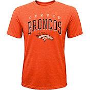 NFL Team Apparel Youth Denver Broncos Wheels Tri-Blend T-Shirt