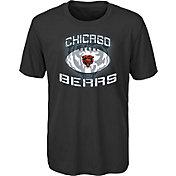 NFL Team Apparel Youth Chicago Bears Infinity Chrome Performance Black T-Shirt