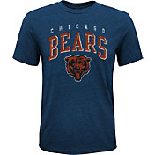 NFL Team Apparel Youth Chicago Bears Wheels Tri-Blend T-Shirt