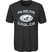 NFL Team Apparel Youth Philadelphia Eagles Infinity Chrome Performance Black T-Shirt