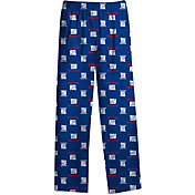 NFL Team Apparel Youth New York Giants Team Print Royal Jersey Pants