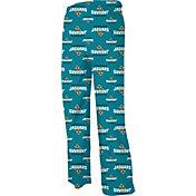 NFL Team Apparel Youth Jacksonville Jaguars Jersey Teal Print Pants