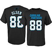 NFL Team Apparel Youth Carolina Panthers Greg Olsen #88 Black T-Shirt