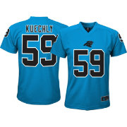 NFL Team Apparel Youth Carolina Panthers Luke Kuechly #59 Blue Performance T-Shirt