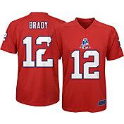 NFL Team Apparel Youth New England Patriots Tom Brady #12 Red T-Shirt