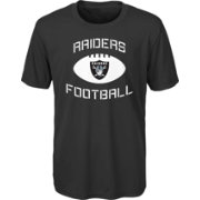 NFL Team Apparel Youth Oakland Raiders Infinity Chrome Performance Black T-Shirt