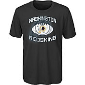 NFL Team Apparel Youth Washington Redskins Infinity Chrome Performance Black T-Shirt
