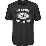 NFL Team Apparel Youth Baltimore Ravens Infinity Chrome Performance Black T-Shirt