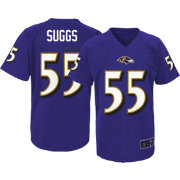 NFL Team Apparel Youth Baltimore Ravens Terrell Suggs #55 Purple T-Shirt