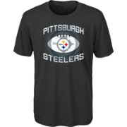 NFL Team Apparel Youth Pittsburgh Steelers Infinity Chrome Performance Black T-Shirt