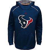 NFL Team Apparel Youth Houston Texans Pinnacle Navy Performance Hoodie