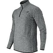 New Balance Men's Transit Quarter Zip Running Long Sleeve Shirt