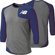 New Balance Men's Baseball Asymmetric Tech ¾ Sleeve Shirt - LEFT
