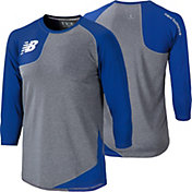 New Balance Men's Baseball Asymmetric Tech ¾ Sleeve Shirt - RIGHT