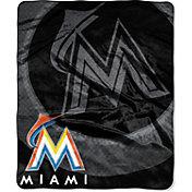 Northwest Miami Marlins Retro Raschel Throw Blanket