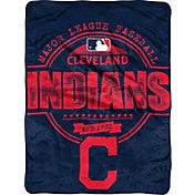 Northwest Cleveland Indians Structure Micro Raschel Throw Blanket