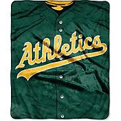 Northwest Oakland Athletics Jersey Raschel Throw Blanket