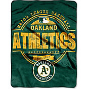 Northwest Oakland Athletics Structure Micro Raschel Throw Blanket